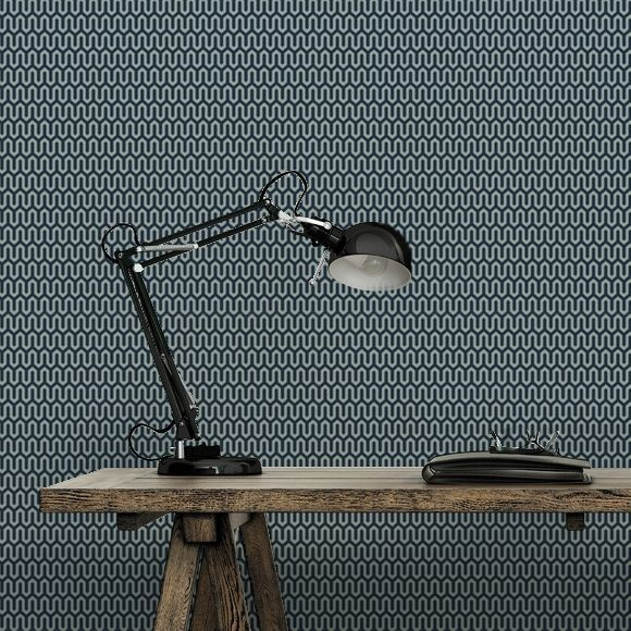 Wallpaper Ypsilon by Arne Jacobsen, Boråstapeter Perfect for a Scandinavian inspired office. Small detailed design and sophisticated in this dark blue colour way. For the whole selection visit our website. (scheduled via http://www.tailwindapp.com?utm_source=pinterest&utm_medium=twpin&utm_content=post196797813&utm_campaign=scheduler_attribution)