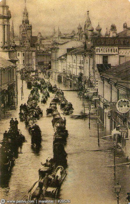 Наводнение 1908 года. Пятницкая улица