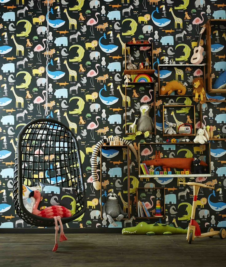 Our 'Animal Magic' wallpaper from 'Guess Who' celebrates our love for animals! Not only does it look great, it will help you to teach your children which animals are which!