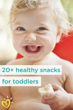 Snack time just got a whole lot easier with this collection of 20+ healthy snack ideas for your toddler, including specific snacks that are great for one-year-olds, 18-month-olds, and two-year-olds! This list of food ideas for your kids also includes the snacks you'll want to avoid when keeping your little one's safety and nutrition top of mind.
