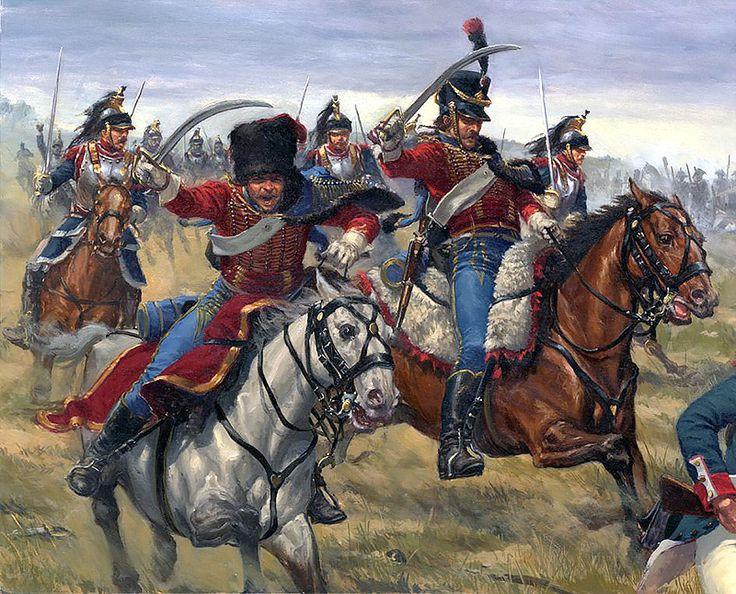 Fremch Hussars & Cuirassiers, Waterloo 1815