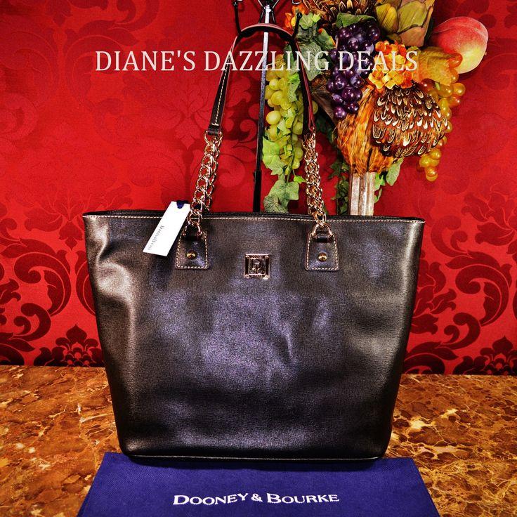 Dooney & Bourke NWT Black Saffiano Large Zip Shopper STUNNING CLASSY & RARE