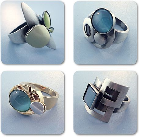 Rings by Christophe Poly. American Made. See the designer's work at the 2015 American Made Show, Washington DC. January 16-19, 2015. americanmadeshow.com #rings, #jewelry, #americanmade