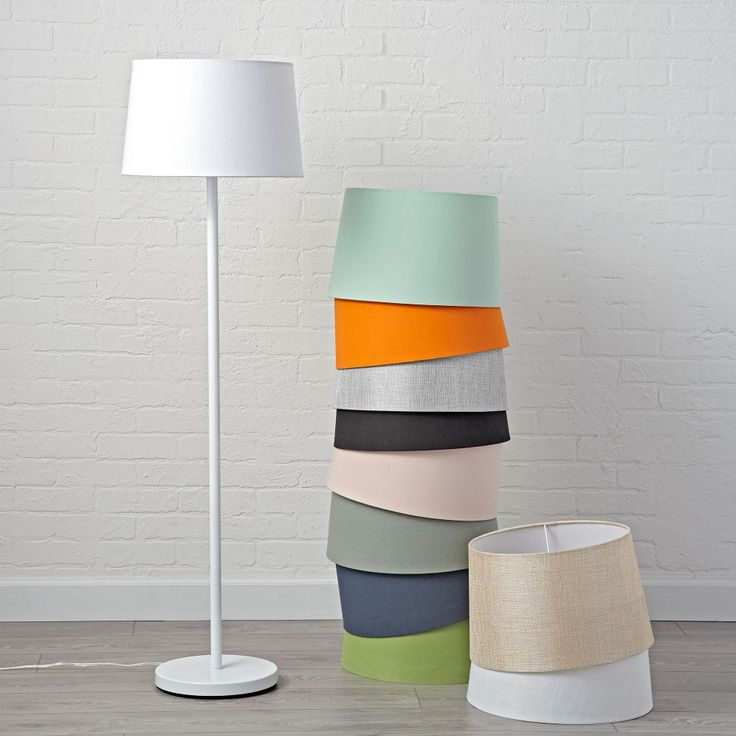 Shop Mix and Match White Floor Lamp Base.  With its understated, easy-to-coordinate style, this white floor lamp base is exceptionally versatile and just a bit brilliant.