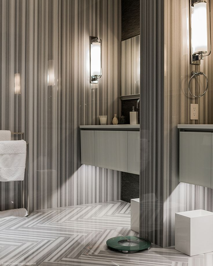 42 Pieces Of Pinstriped Solid Marble; Stonework By Cumar, Inc. Bathroom  Design By Eric Roseff; Photo By Michael J. Part 69