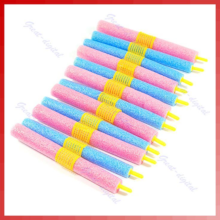 12pcs/set Soft Foam Anion Bendy Hair Rollers Curlers Cling Magic leverag