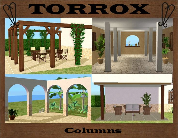 Mod The Sims - Torrox Spanish/Southwestern Build Set Part 9 – Columns