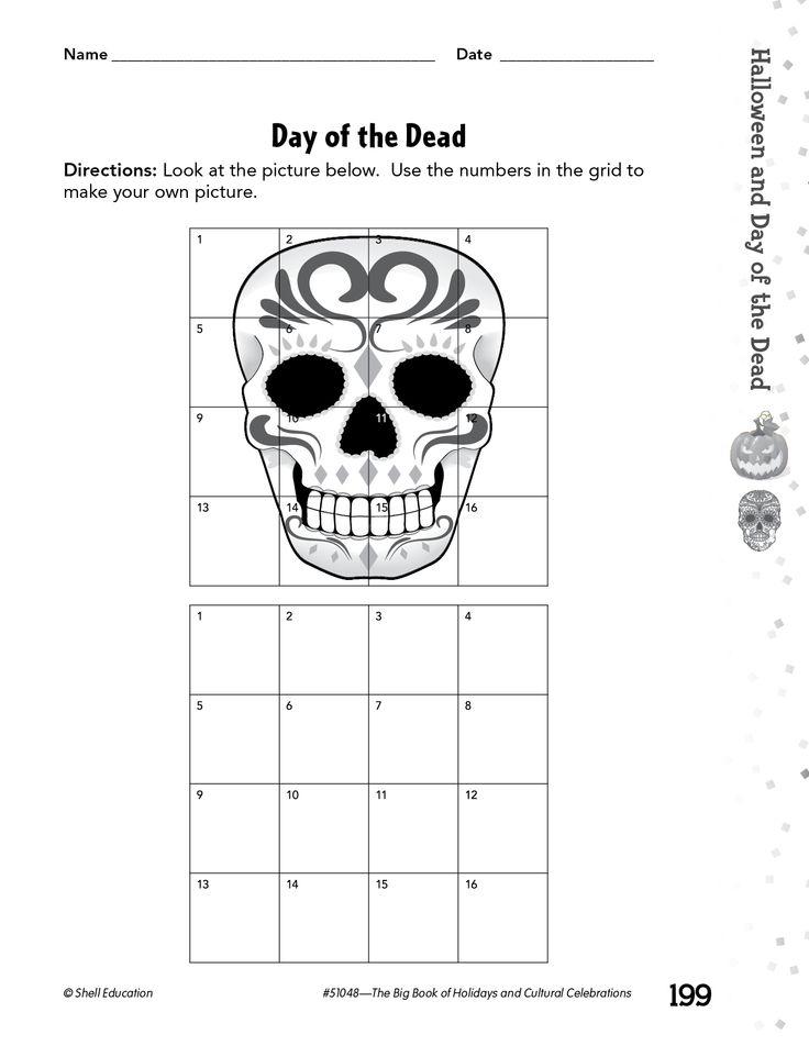 day of the dead worksheets 10 dia de los muertos activities - Drawing Activity Sheets