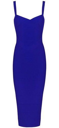 Callie Dark Blue Bandage Dress