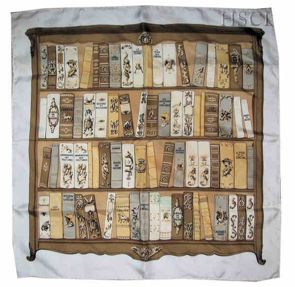 """Bibliotheque (from <a href=""""http://piwigo.hermesscarf.com/picture?/3187/category/143-brown"""">HSCI Hermes Scarf Photo Catalogue</a>)"""