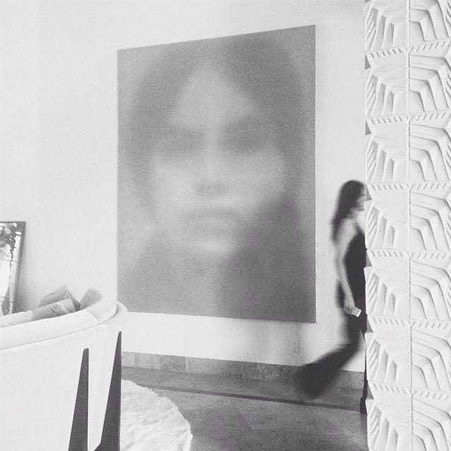 Eva Hesse, oil on canvas, 9ft x 7ft, Alison Van Pelt