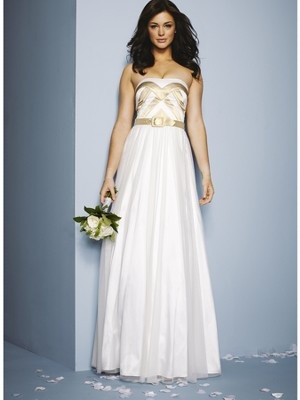 If Wonder Woman got married, this is the dress she would wear!
