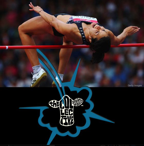 *elated* sarah's leapt her way into Saturday mornings (NZ time) 12-woman Glasgow 2014 high jump final with a solid jump of 1.85 metres proving that this kiwi can truly fly… no bull! #collectivechamp