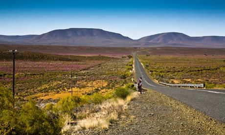 The road to Sutherland, Karoo, Cape Province, South Africa.