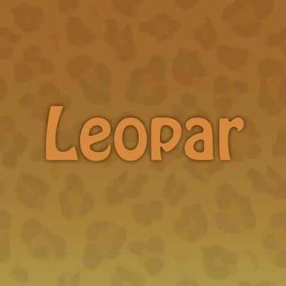 Bugün sizin için seçtiğimiz renk Leopar!  Bu sarımsı kahverengi renk, leopar hayvanının renginden gelmektedir. Leoparlar, puma ve jaguar gibi kedigiller ailesinden gelmektedir. Bu yabani hayvanlar daha çok Afrika Kıtası'nda yaşamaktadır.