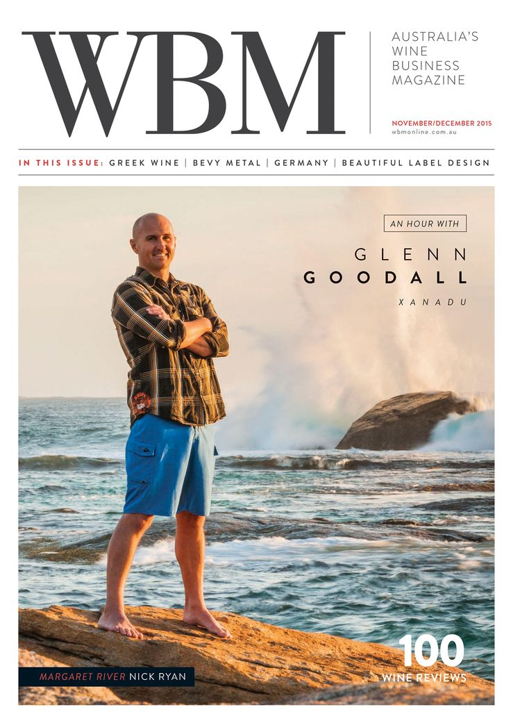 WBM Magazine November/December 2015 edition cover, featuring Glenn Goodall.