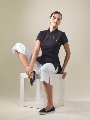 China - Black Spa Uniform Top