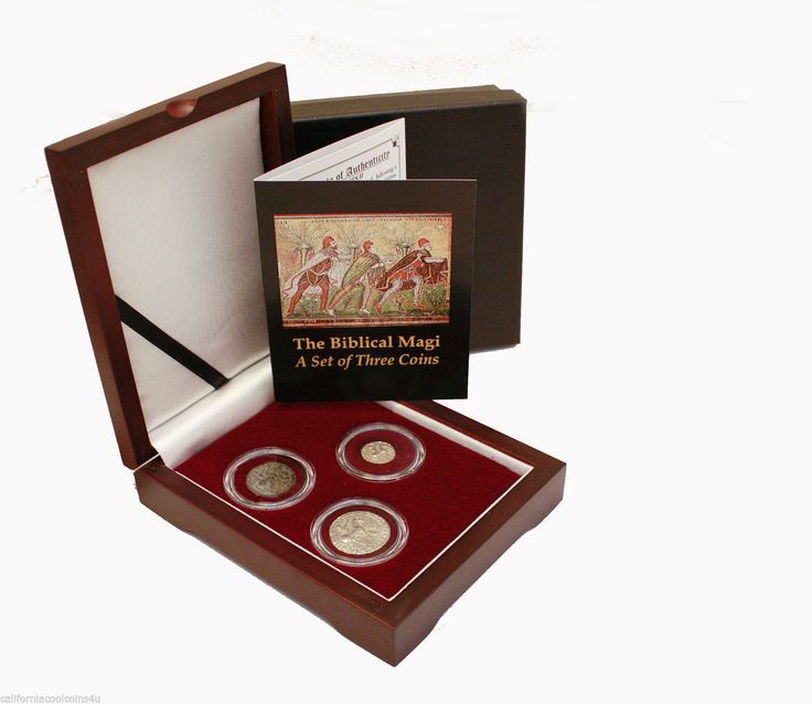 """The Biblical Magi 3 Coin set – 2 Silver and 1 Bronze with COA """"The 3 Wisemen""""  Price : $199.99  Ends on : 4 days Order Now"""