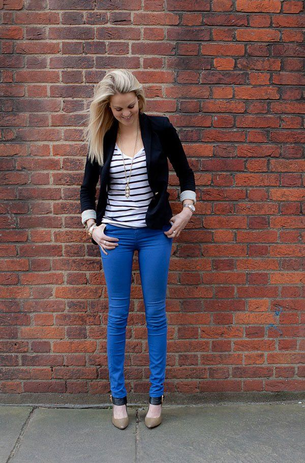 Coloured denim trend - new cobalt jeans @Jack Wills
