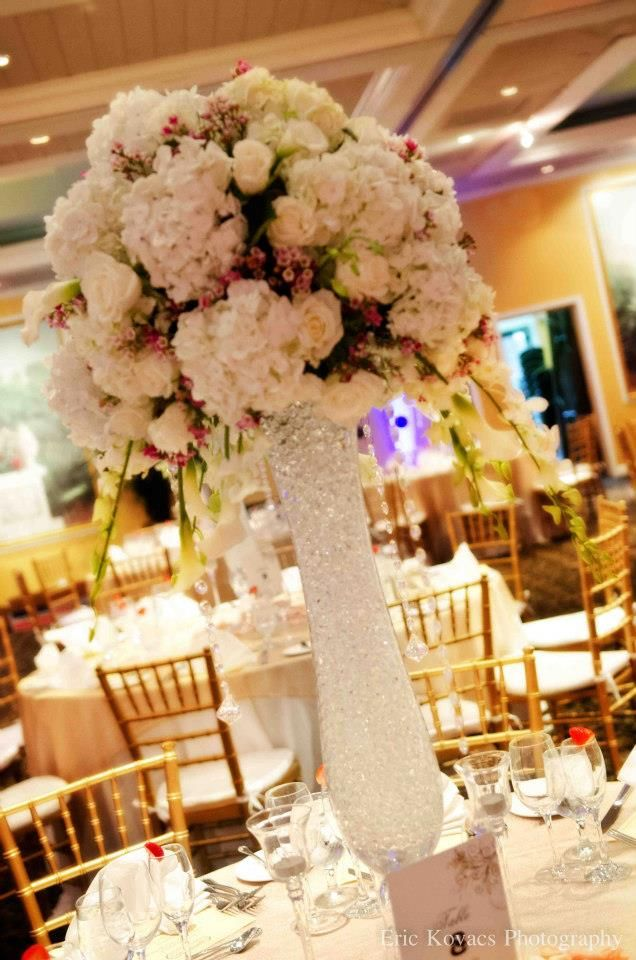 wedding reception minnetonkmn%0A Romantic Wedding Centerpiece for your special day   Events by Dream Makers     centerpiece