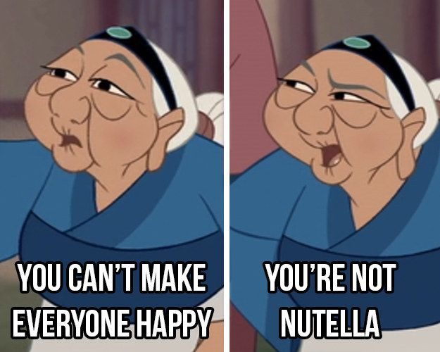 The best advice that's ever been given. | 17 Disney Nutella Memes Guaranteed To Make You Laugh Out Loud