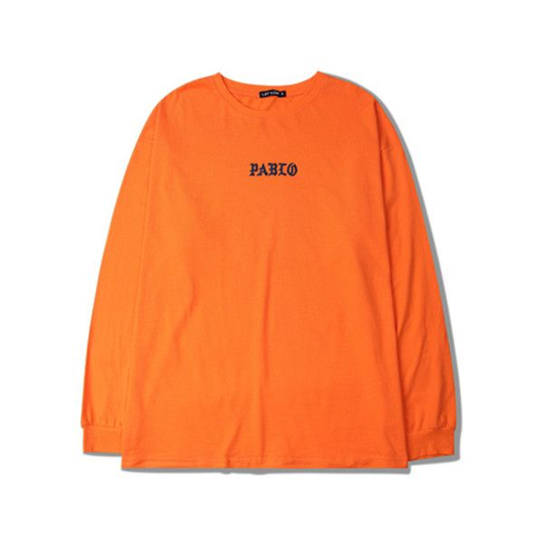TLOP Longsleeve Tee ❤ liked on Polyvore featuring tops, t-shirts, long sleeve t shirts, orange tee, orange top, long sleeve tops and long sleeve tees