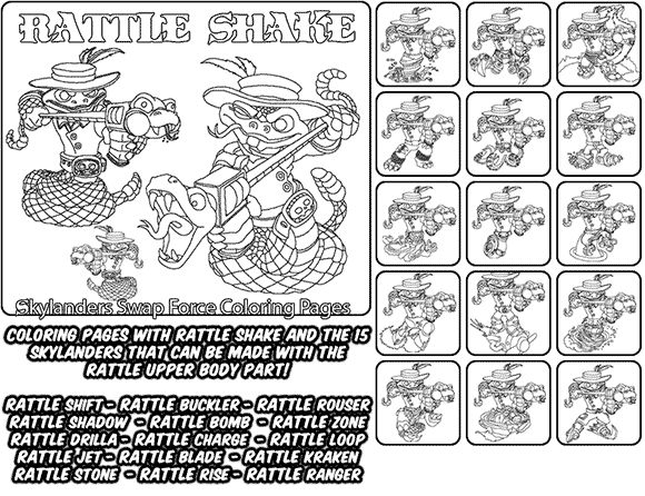 skylanders coloring pages freeze blade - photo#40