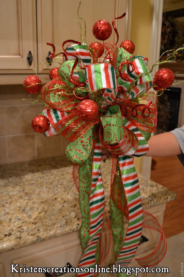 Kristen's Creations / tree topper @Bree Massey I know you would know how to make this (insert fast blinking eyes here :-). )