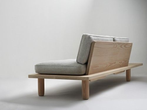 Plank Sofa is a minimalist design created by Norwegian-based designers KnudsenBergHindenes. The sofa is easily assembled, and can be flat-packed for efficient delivery and transportation. The framework is constructed from massive floorboards taken from Dinesen Douglas spruce trees. (3)