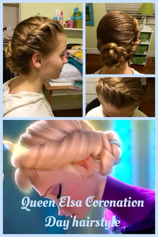 Frozen hairstyle: Elsa's Coronation Day