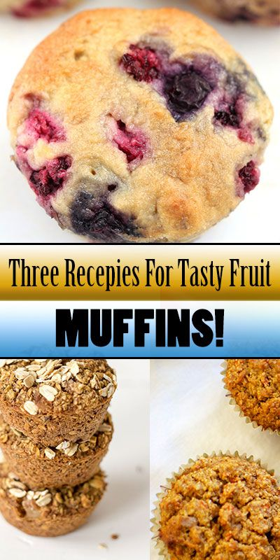 In addition, we give you a few of those recipes:  1. Strawberry muffins  2. Oatmeal pear muffins (Gluten free)  3. Apple muffins