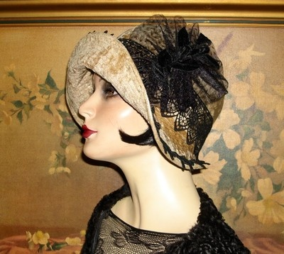 Lavish Downton Abbey Cloche Couture 1920s Vintage Flair Flapper Hat | eBay