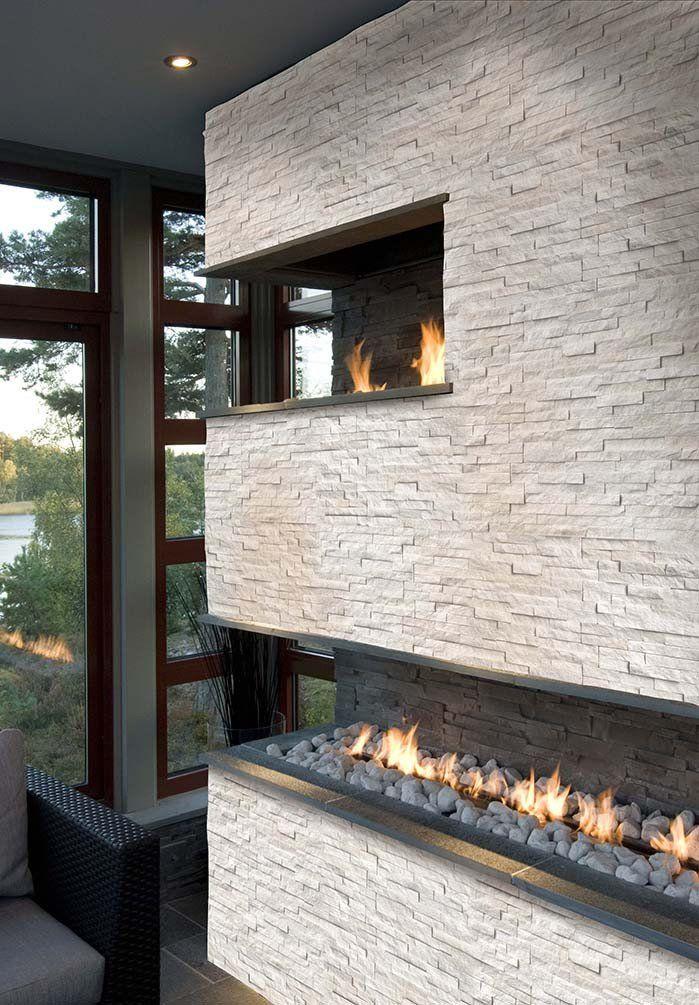Best 25 White Stone Fireplaces Ideas On Pinterest White
