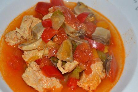 recette cookeo  :escalopes de poulet Basquaise