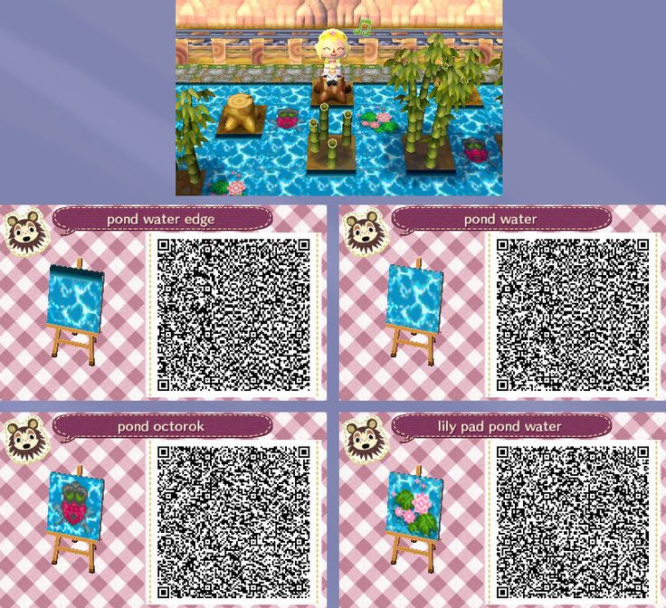 Animal Crossing New Leaf Qr Codes Paths Water