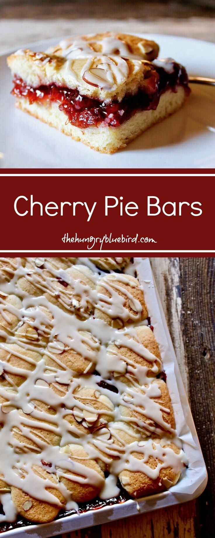 Cherry Pie Bars, easy to make with staple ingredients, festive for the holidays.