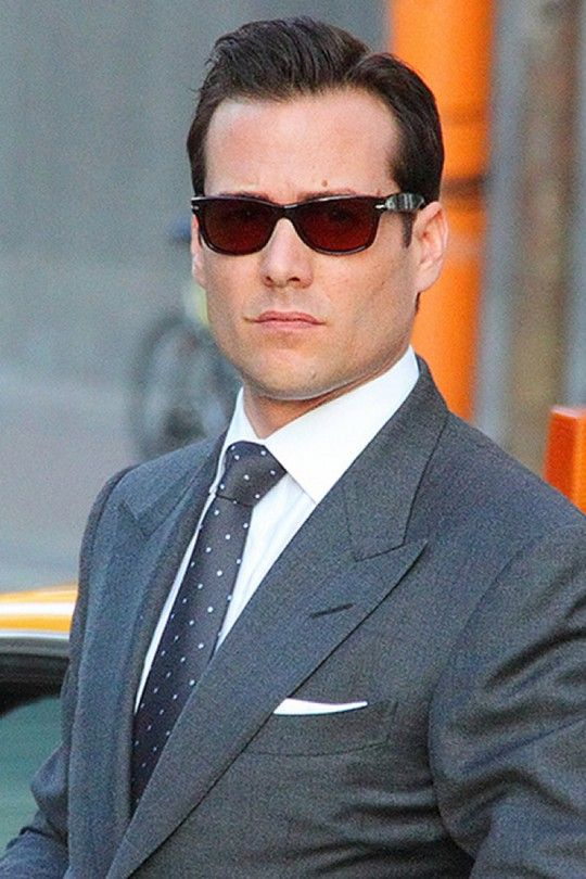"""Gabriel Macht in character on """"Suits"""". (Regardless, suit-done-right.)"""