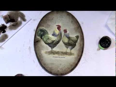 Decoupage krok po kroku - serce shabby chic - YouTube