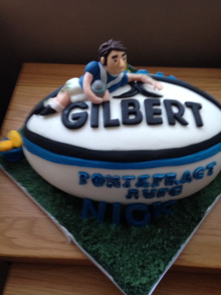 Rugby ball cakes by Lacey Cakes Wakefield