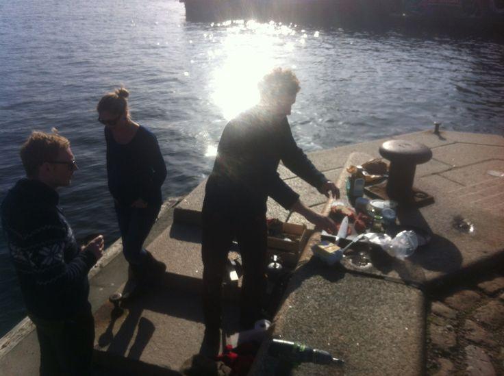 2014 early spring at Copenhagen harbor