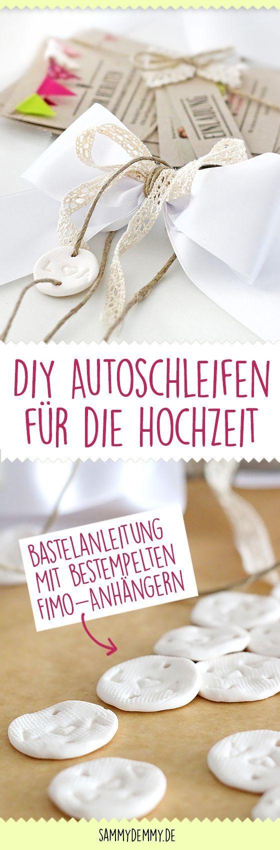 Beautiful DIY car bows for the wedding: instructions to make your own   – Geschenke zur Hochz…