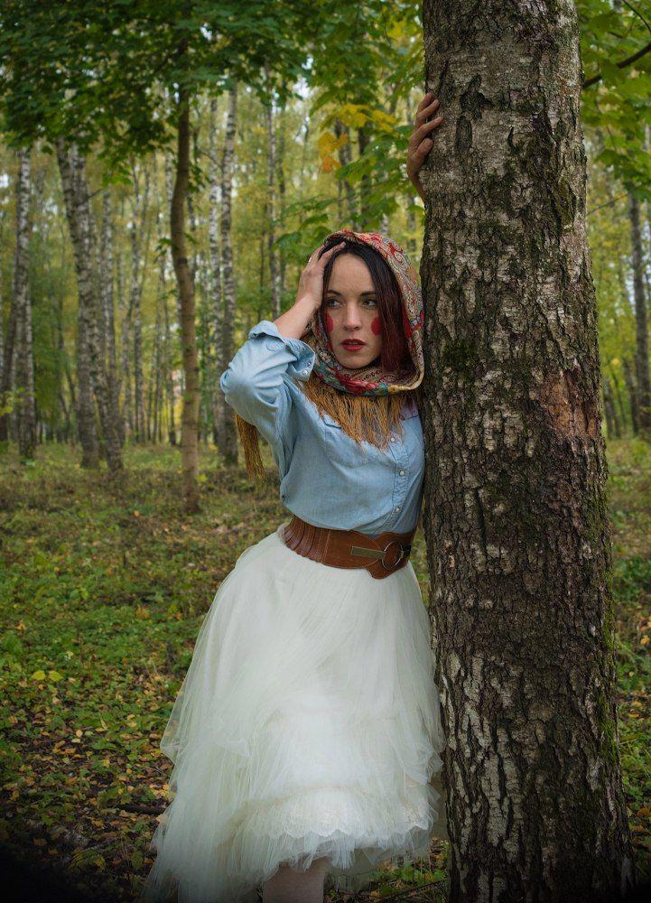 Russian style woman photo