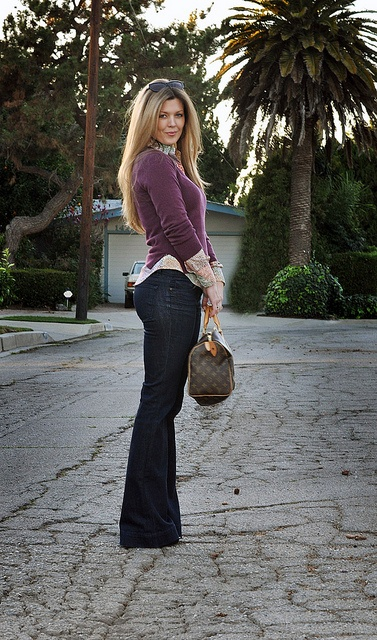 love j brand story jeans + vintage Tucci Blouse + vintage Halston Sweater by ...love Maegan, via Flickr