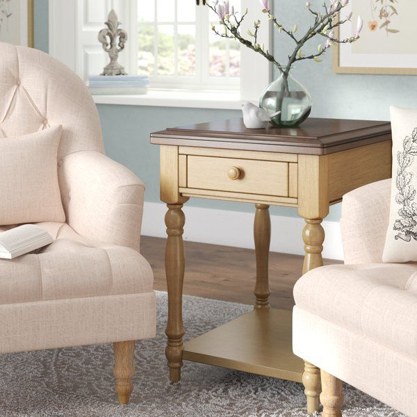Courtdale End Table With Storage Living Room End Tables End Tables Wood End Tables #side #table #for #living #room #with #drawers