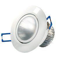 Transmedia LED-Einbaustrahler 230 V/6.5 W, 360 lm, Deckeneinbau, 30 Grad, CRI/RA: 80, dimmbar, Durchmesser 90 x 57 mm, warmweiß, 3000K, weiß LPE3L