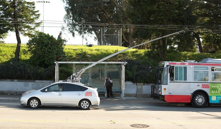 Hacked Prius Running on MUNI Power Lines  #awesome