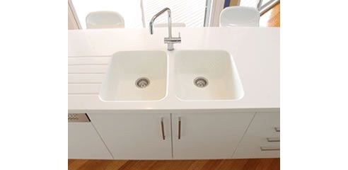 kitchen seamless benchtop moulded sink | ... sinks, your creativity doesn't have to end at the edge of the sink
