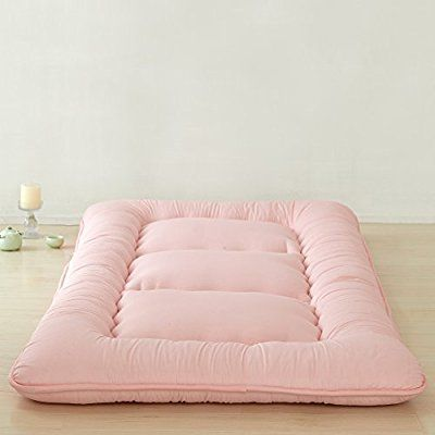 Light Pink Futon Tatami Mat Japanese Futon Mattress Cheap Futons For Sale Luxury Bedding Christmas Gift Idea, Queen Size