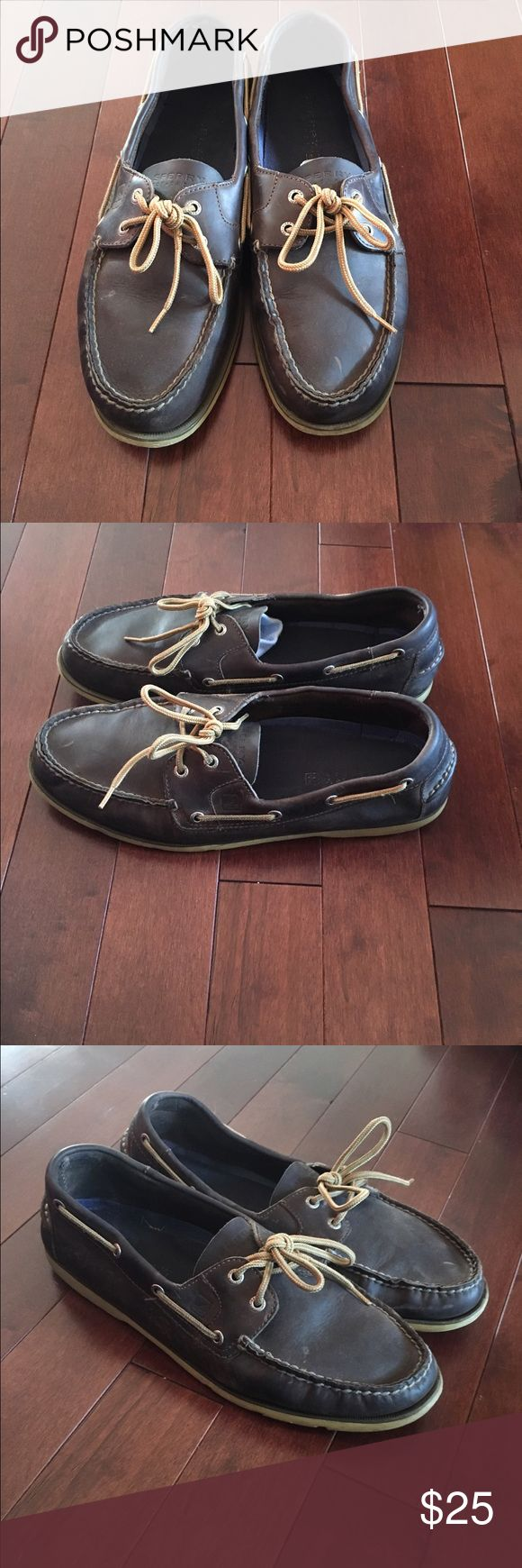 Sperry top sider ao 2 eye men's boat shoe size 13 Up for sale is a pair of sperry a/o 2 eye topsiders brown leather colorway. Size 13 have wear but still lots of life left and are comfortable in my opinion. 100% authentic and perfect for the price If any questions please feel free to ask Sperry Top-Sider Shoes Boat Shoes