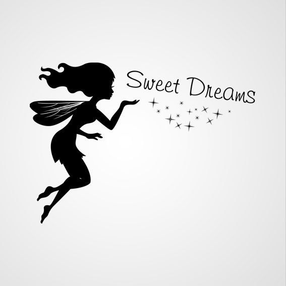 Sweet Dreams - Dewiha Art - Muursjablonen en Muurstickers